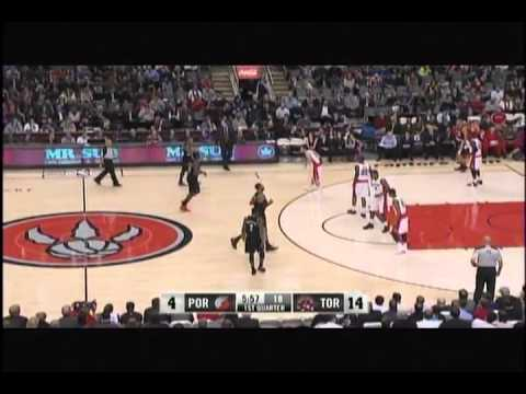 Toronto Raptors forward Amir Johnson gets away with the epic double dribble