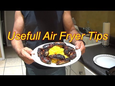Tips for Cooking with an Air Fryer Oven - Caramelized Teriyaki Chicken Wing Recipe #AirFry