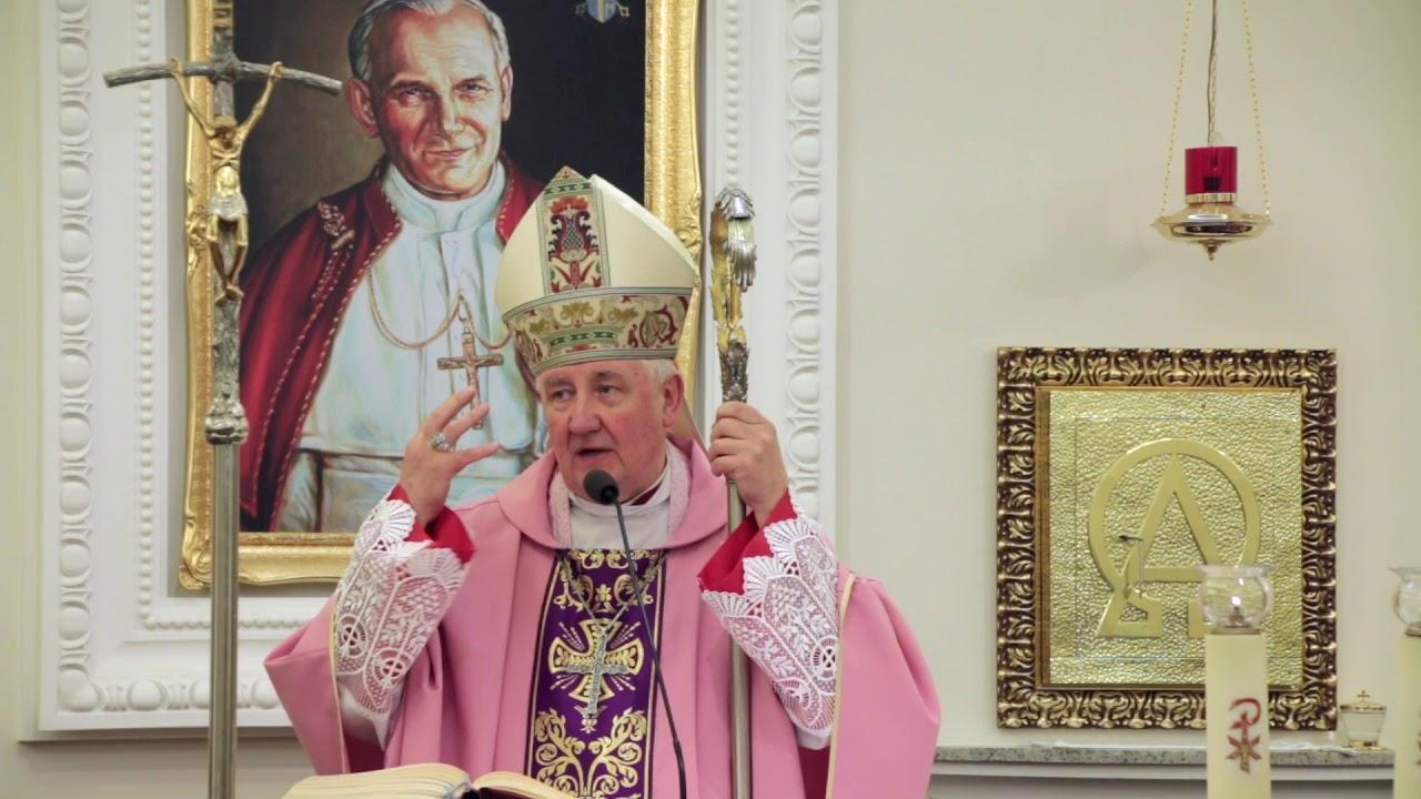 Bp R. Kamiński: Wiara to dziecięce przytulenie się do Boga (11 III 2018 r.)