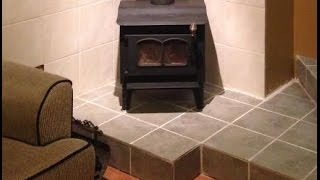 Wood Burning Stove Installation using an existing brick chimney Start to Finish!