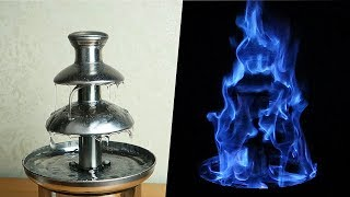Огненный шоколадный фонтан из Антисептика для рук! 🔥