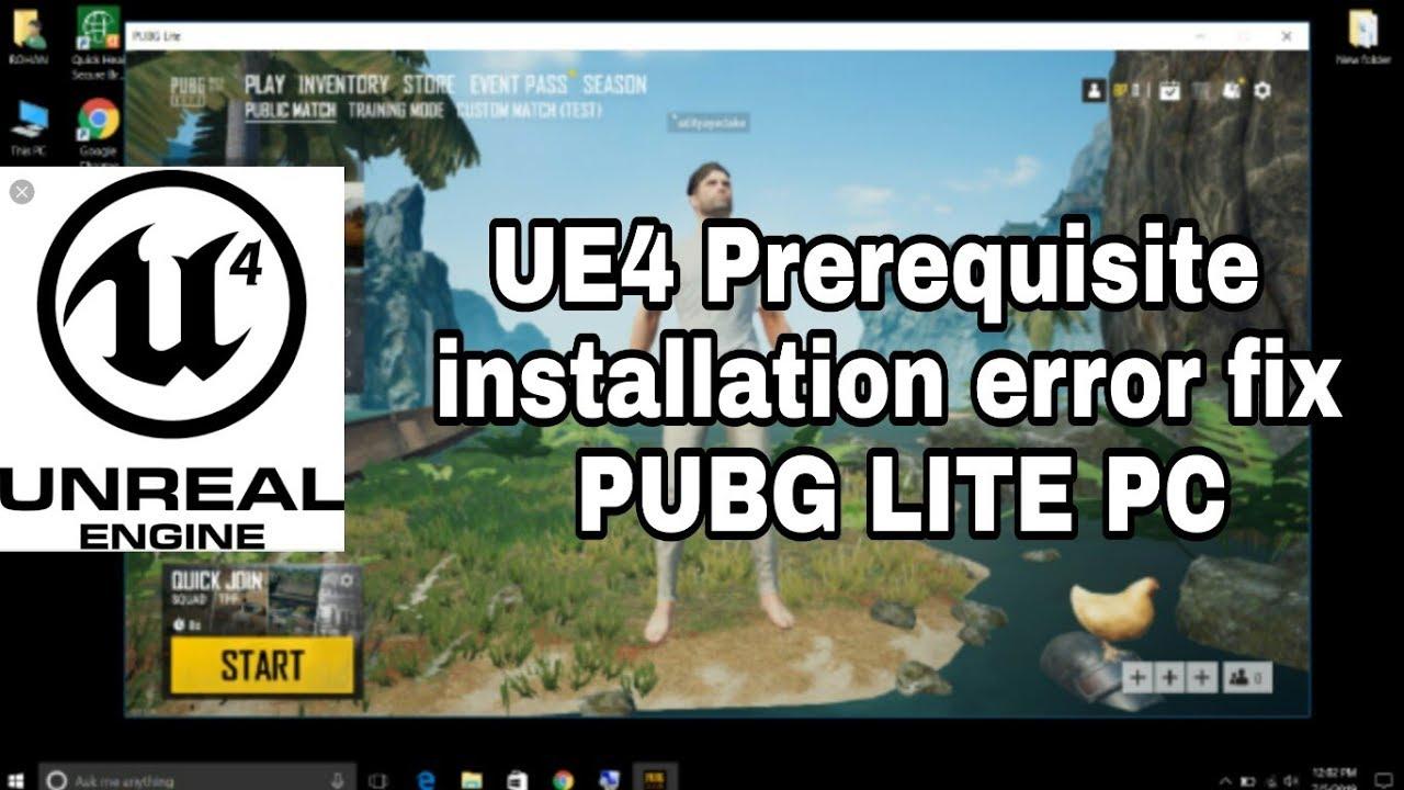 UE4 Prerequisites Setup Error Fix PUBG Lite PC