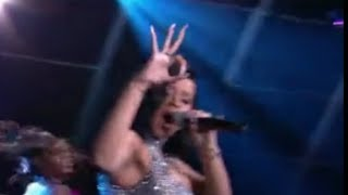Cardi B Caps Off MTV Performance With The Ol' 666 OK Hand Sign (2017)