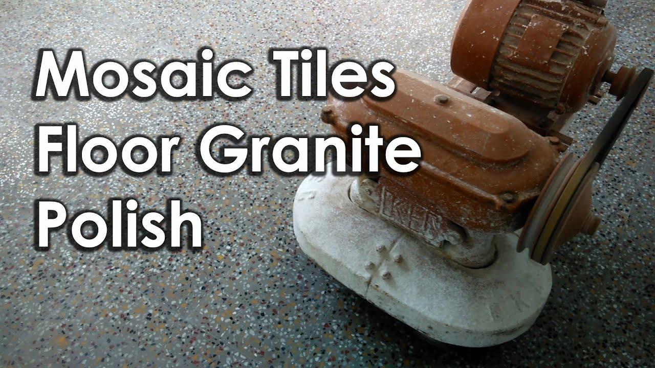 Mosaic Tiles Floor Granite Polish Youtube