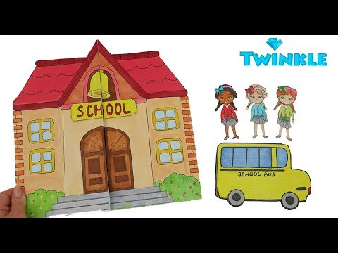 HOW TO MAKE SCHOOL FOR PAPER DOLLS PAPERCRAFTS FOR KIDS DOLLHOUSE IN ALBUM
