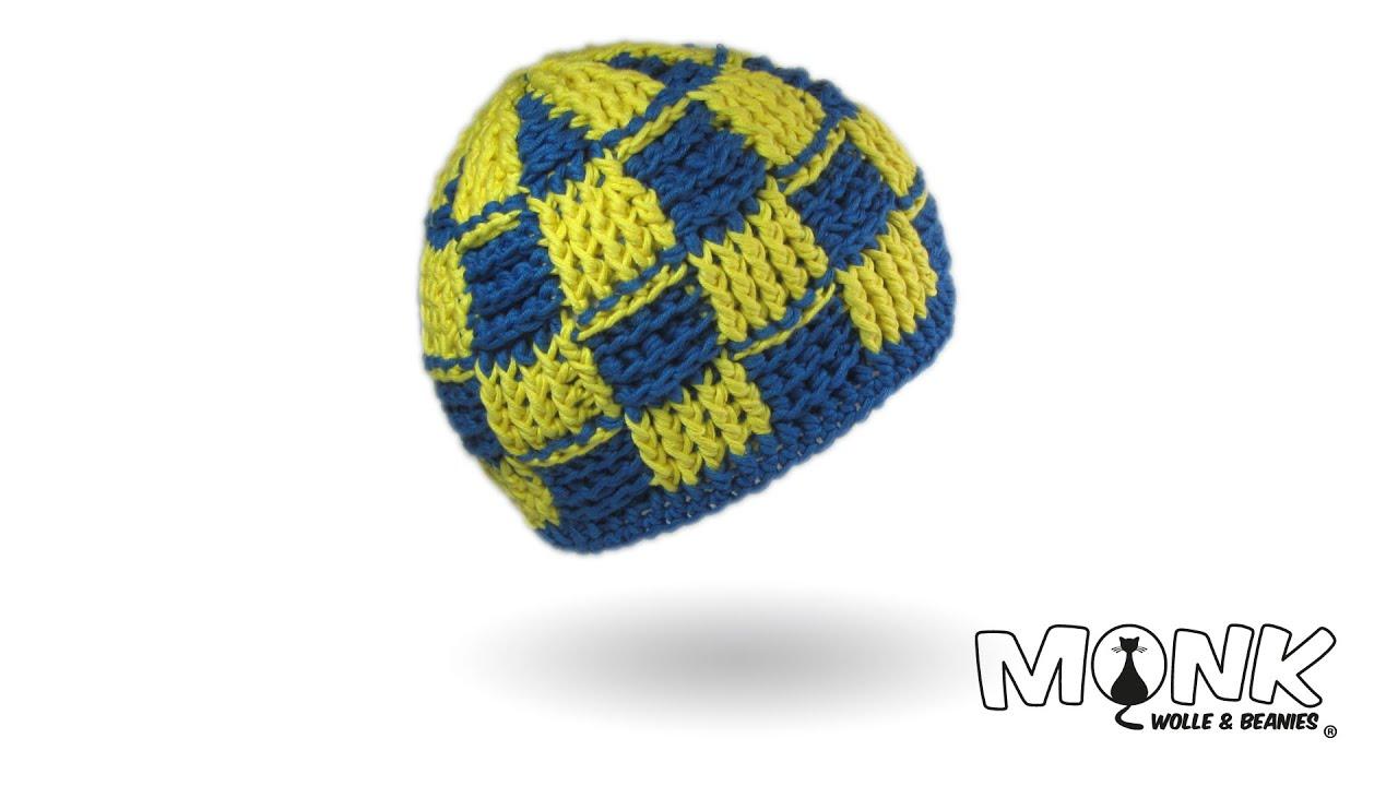 Basketweave Beanie häkeln 2-farbig (mit Hatnut surf) - Mütze im ...