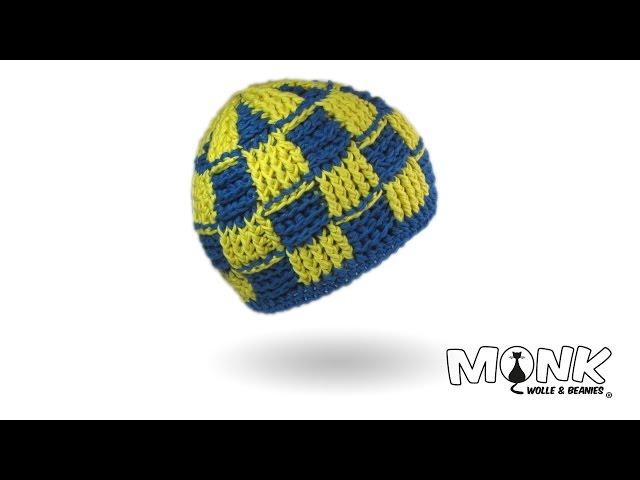 Basketweave Beanie Häkeln 2 Farbig Mit Hatnut Surf Mütze Im