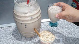 Agua fresca de avena y canela buenísima para el organismo elimina la grasa y ten buena dijestion