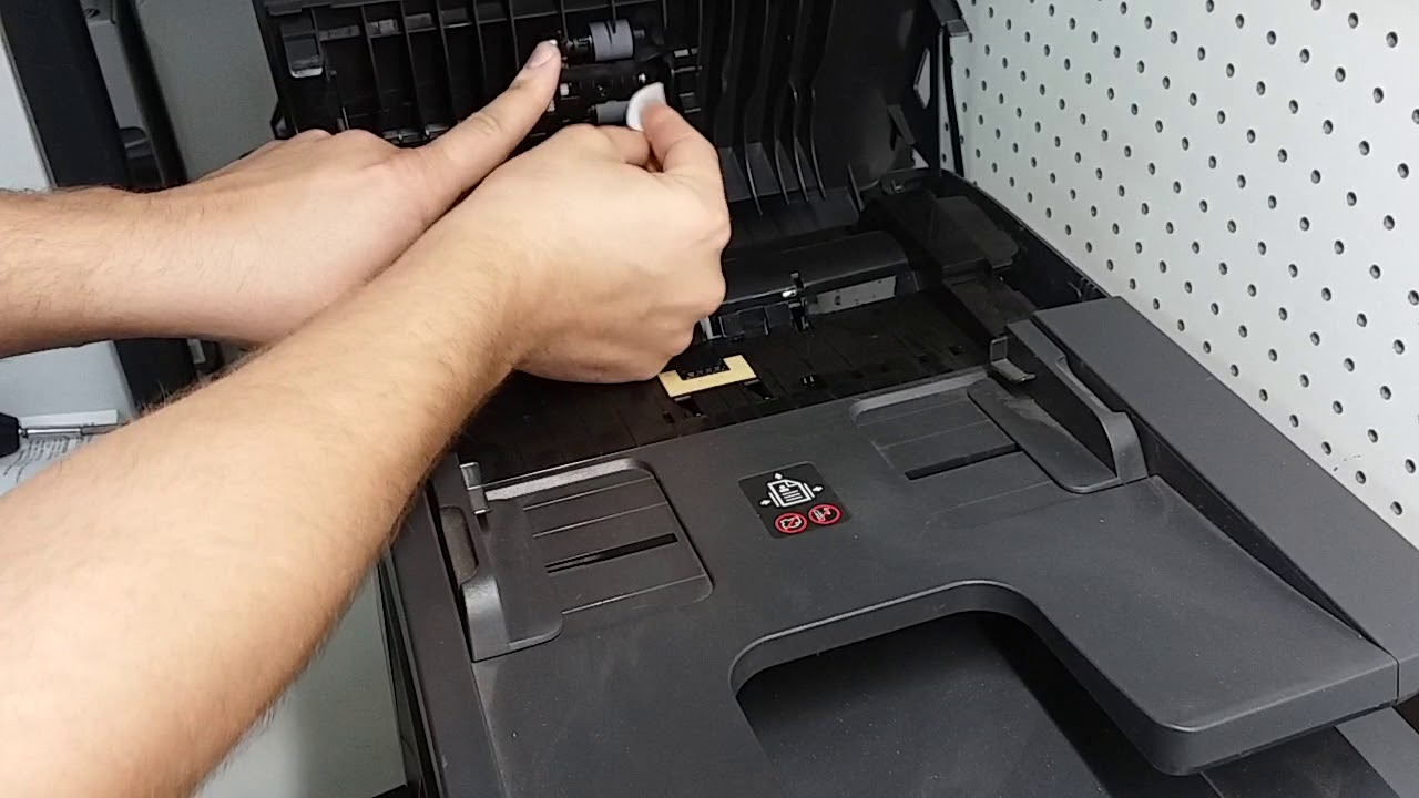 How to fix ADF Document Feeder problem on HP Officejet 8710, 8715, 8720,  8730, 8740, 8600, 8610