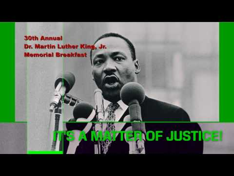 PROMO: 30 Annual Dr. Martin Luther King Jr. Memorial Breakfast