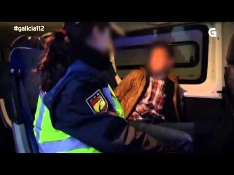Saída nocturna da Policía Nacional (Unidade de Prevención e Reacción) da Coruña