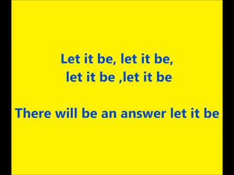 let it be  MR Bb