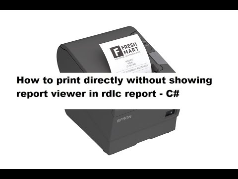 How To Print Directly Without Showing Report Viewer In RDLC Report - C#