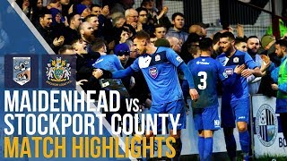 FA Trophy - Maidenhead United Vs Stockport County - Match Highlights - 03.02.18