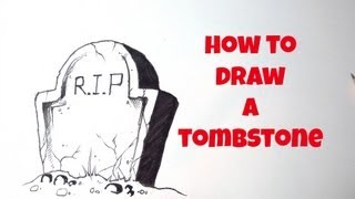 How To Draw A Tombstone
