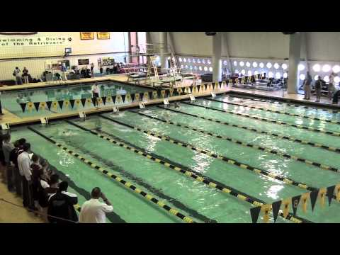 umbc swimming and diving vs rider women 39 s 200 medley relay pool record youtube
