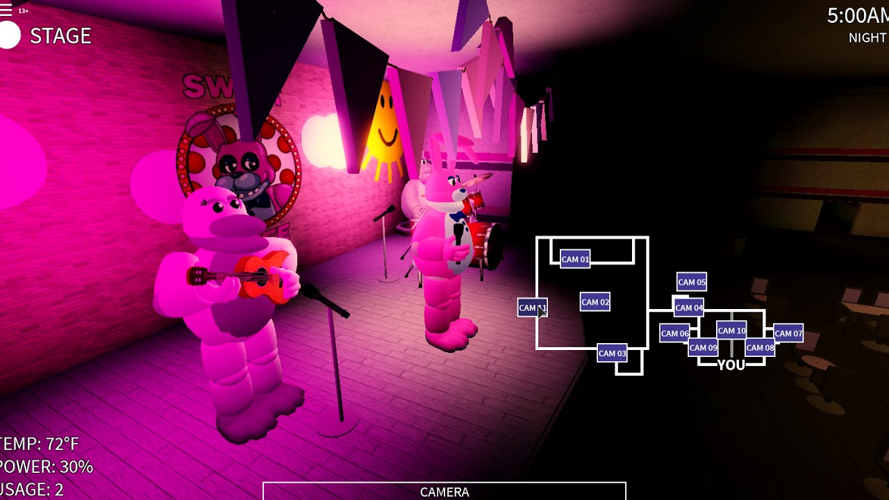 A Roblox Fnaf Original Fan Game Roblox Five Nights At Sweet Cafe - roblox fnaf fan game