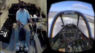 DCS P51 Mustang on the Oculus Rift DK2 / Max Flight Stick