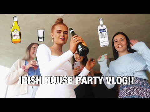 IRISH HOUSE PARTY VLOG!! Night out in Ireland ...