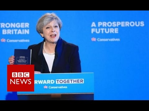 Theresa May Conservative manifesto speech - BBC News