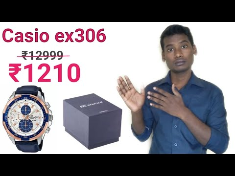 Casio edifice ex306 watch unboxing + review, price in hindi...