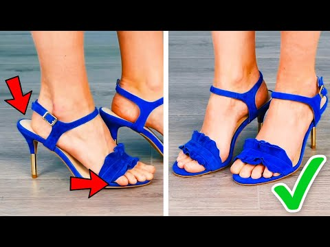 35 EASY WAYS TO IMPROVE YOUR SHOES || SMART GIRLY HACKS