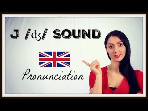 J /ʤ/SOUND - Learn BRITISH ENGLISH Pronunciation / Accent
