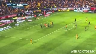 Gol de tigres vs dorados 4-1