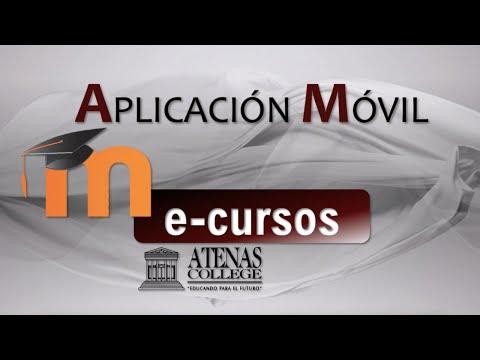 ACCESO MÓVIL E-CURSOS - ATENAS COLLEGE CON MOODLE APP