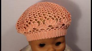 Как связать детский летний берет крючком.How to crochet beret free pattern tutorial #crochet_beret(Полное видео смотрите тут https://youtu.be/ux2dq8XJV3w Скачать схему вы можете посетив мой блог http://wwwikaisakina.blogspot.com/2016/04..., 2015-05-20T18:12:56.000Z)