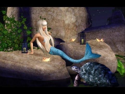 Sims 3: how to make a mermaid - (sims 3 mermaid) - PARODY ...