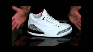 Air Jordan III 3 Retro 2011 Review White/ Fire Red- Cement Grey- Black