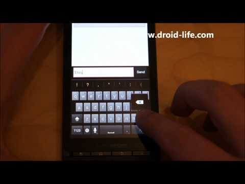 Android 2.3 (Gingebread) First Hands-on:  Keyboard