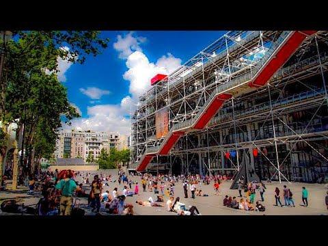 A Walk Around The Pompidou Center, Paris