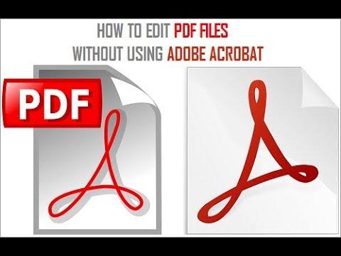 adobe pdf editing software free