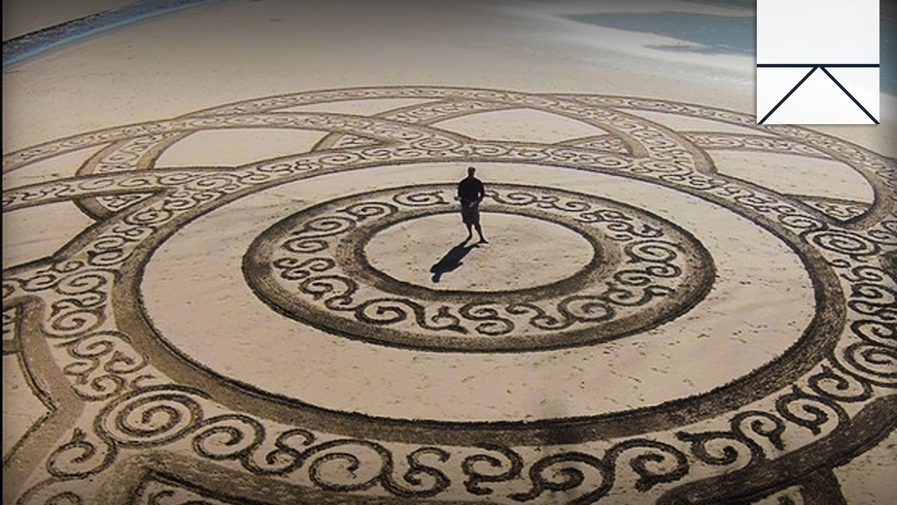 The Mysterious Sand Designs On California's Beaches