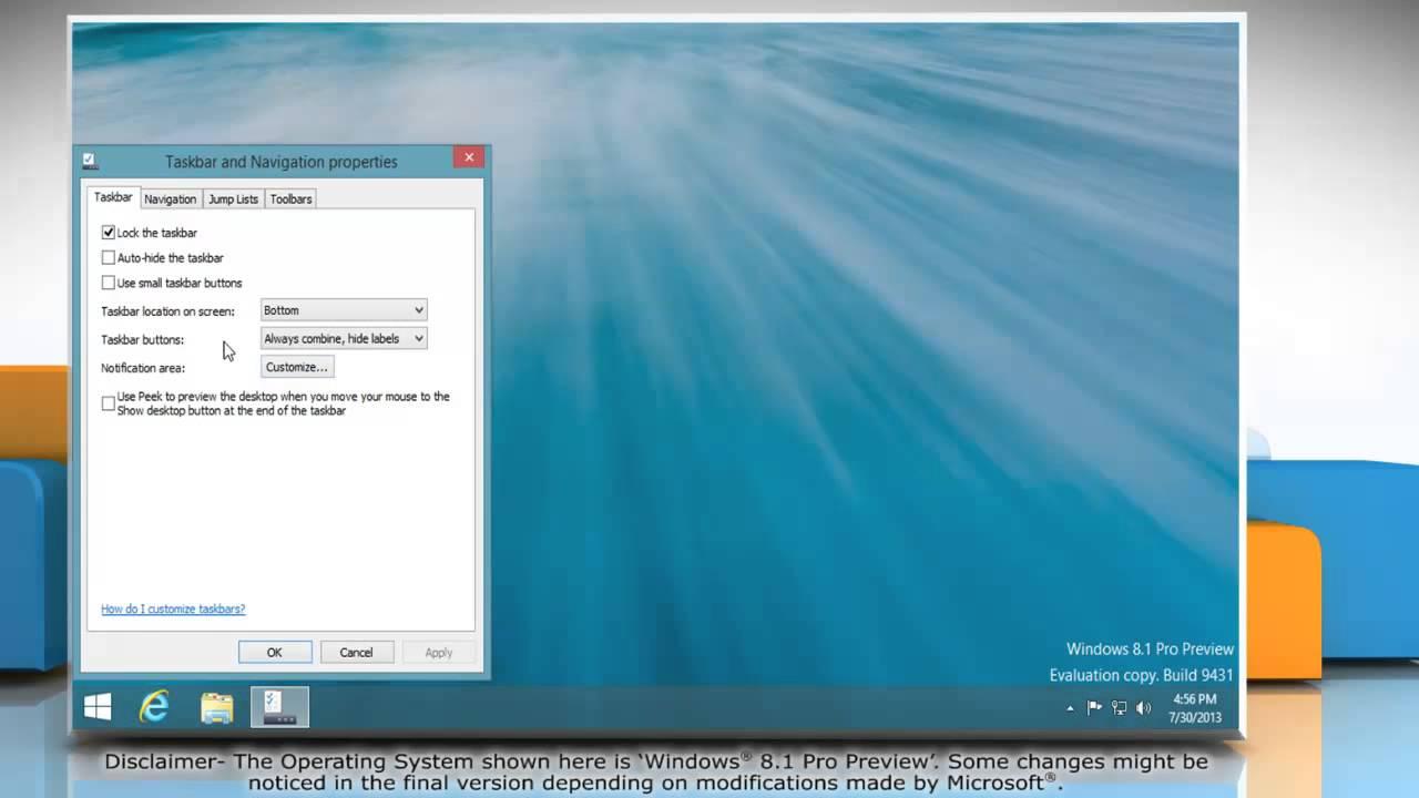 How To Hide The Taskbar In WindowsR 81