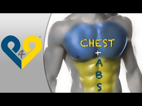 "Chest + Abs MEGA workout ""No music version"""
