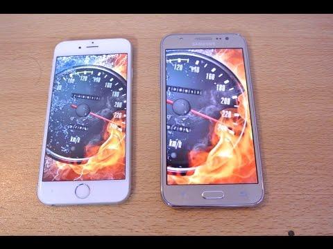 Samsung Galaxy J5 vs iPhone 6 - Speed Test