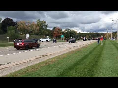 Joe Biden's motorcade passes through Grand Rapids