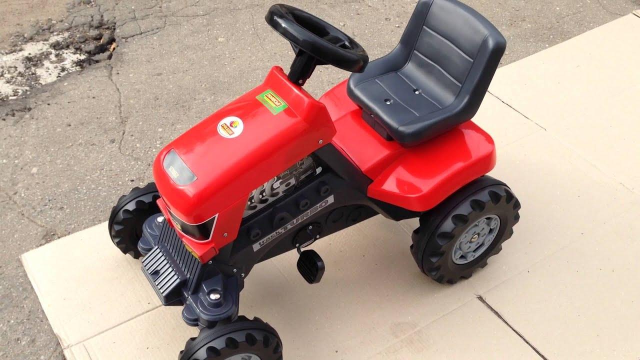 Детский трактор на педалях Turbo - YouTube