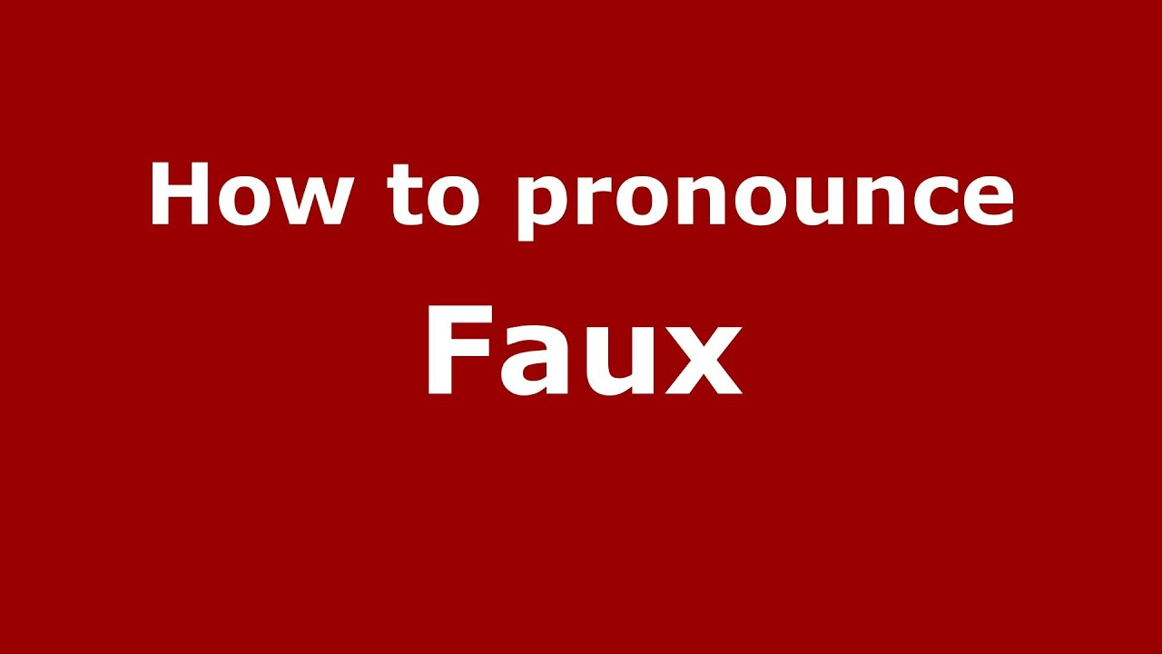 How to spell faux paux