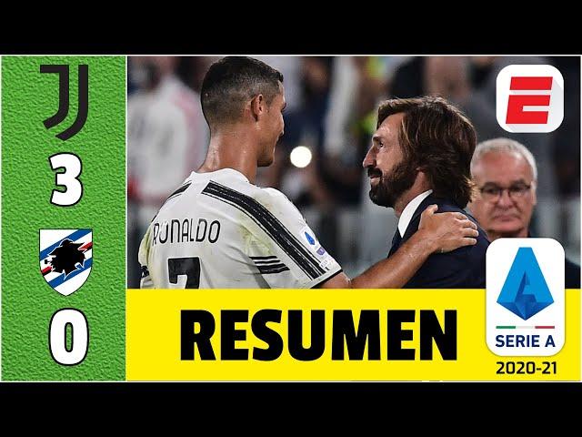 Juventus 3-0 Sampdoria. Cristiano Ronaldo marcó en el debut de Andrea Pirlo como técnico | Serie A