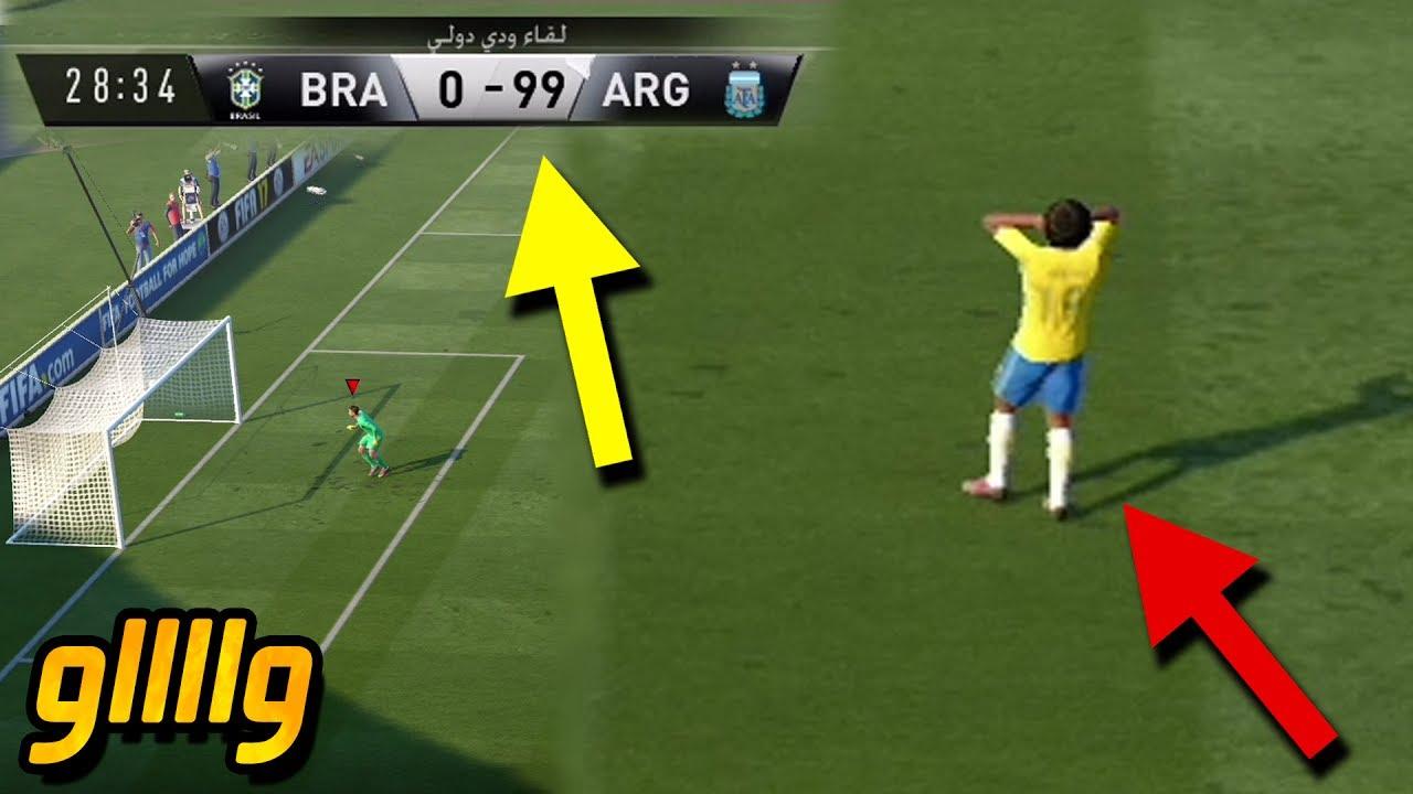 ماذا سيحدث إذا سجلت 100 هدف في لعبة فيفا 17 ؟! ستنفجر اللعبة ؟؟ | FIFA 17