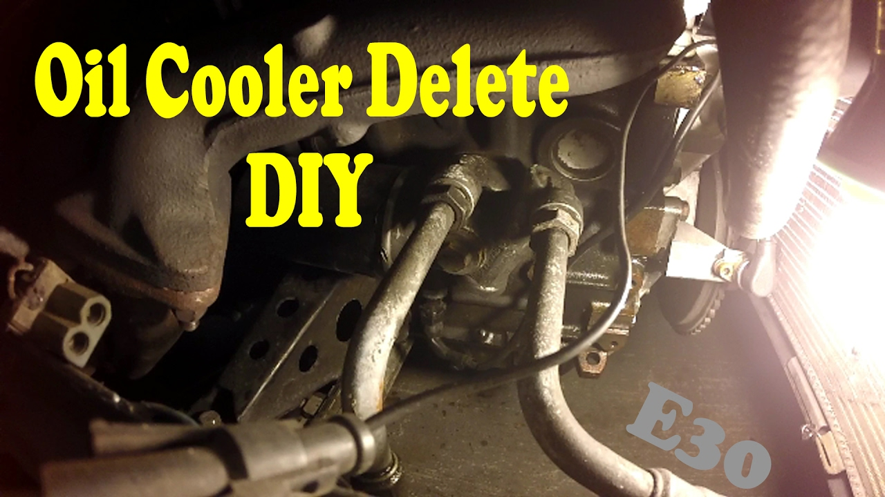 Oil Cooler Delete DIY - YouTube