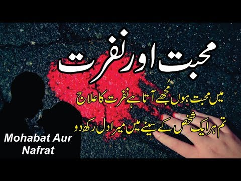 Mohabbat Aur Nafrat In Urdu / Hindi || Life Changing Best Quotes And Poetry Collection
