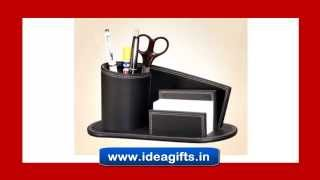 Elegant Leather Table Tops And Passport Holders By Idea Gifts.