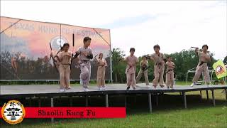 USA Shao Lin Xiu Cultural Center  Performance Team in The TX Kung Fu Festival