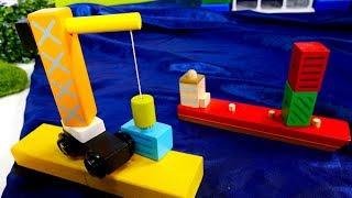 Машины-Помощники — Подъёмный кран, тягач, катер и сухогруз.