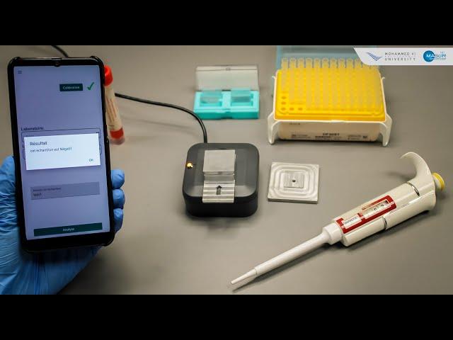 Fondation MAScIR - Dispositif pour le dépistage du Covid-19 en 20 secondes